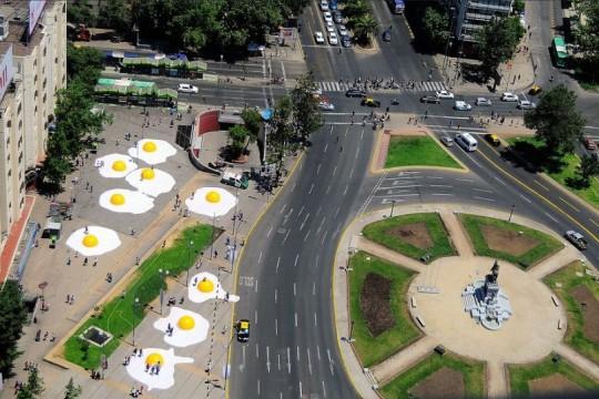 Huevos en Plaza Italia